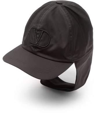Valentino V-logo Nylon Aviator Cap - Mens - Black