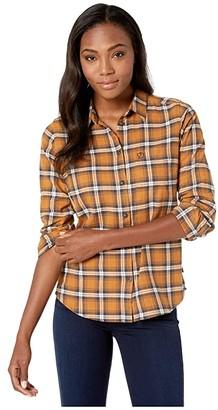 Fjallraven Ovik Flannel Shirt (Dark Navy) Women's Long Sleeve Button Up