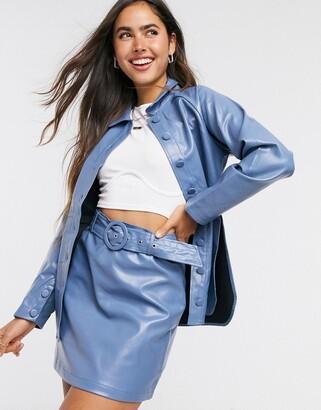 Fashion Union mini skirt in pu two-piece