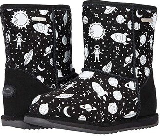 Emu Outer Space Brumby (Toddler/Little Kid/Big Kid) (Black) Girl's Shoes