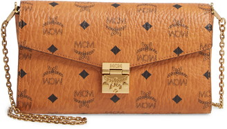 MCM Millie Monogrammed Leather Crossbody Bag