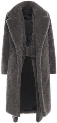 Helmut Lang Belted Faux Fur Coat