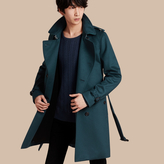 Burberry Cashmere Trench Coat , Size: 44sf, Blue
