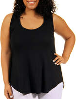 24/7 Comfort Apparel Racerback Knit Tank Top-Plus