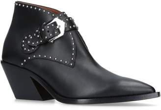Givenchy Leather Cowboy Ankle Boots 60