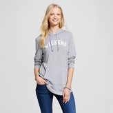 Modern Lux Women's Weekend Brushed Pullover Hoodie Heather Gray - Modern Lux (Juniors')