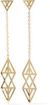 Noir Ikat Gold-Tone Earrings