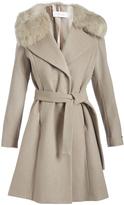 T Tahari Brown Sugar Fiona Wool-Blend Trench Coat