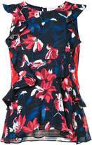 Tanya Taylor floral print frill trim blouse