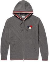 Moncler - Appliquéd Virgin Wool Zip-up Hoodie