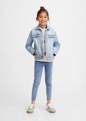 MANGO Pocketed denim jacket bleach blue - 3-4 years - Kids
