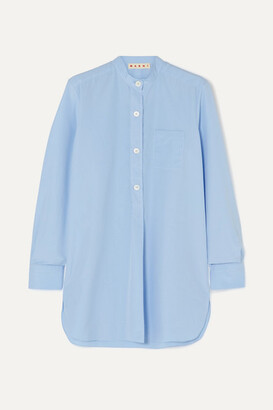 Marni Cotton-poplin Shirt - Light blue