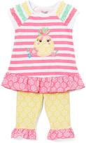 Nannette Pink Pineapple Stripe Tunic & Leggings - Infant Toddler & Girls