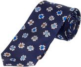 Brooks Brothers Red Fleece Navy Floral Silk Tie
