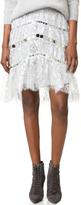 Zimmermann Adorn Crystal Lace Miniskirt