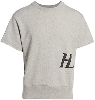 Helmut Lang Short-Sleeve Logo Sweatshirt