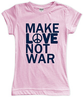 Urban Smalls Light Pink 'Make Love Not War' Fitted Tee - Toddler & Girls