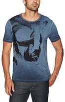 Calvin Klein Jeans Men's Short Sleeve Strokes Logo Crew Neck T-Shirt