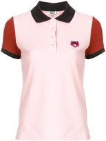 Kenzo Tiger crest colour-block polo shirt