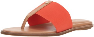 Taryn Rose Women's Kamryn Vachetta Flat Sandal Poppy 5 M M US