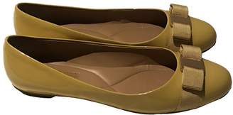 Salvatore Ferragamo Yellow Patent leather Ballet flats