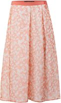 Max Mara Weekend Lindsey pleated floral silk skirt
