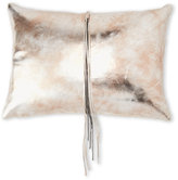 cloud 9 Gold Faux Leather Tassel Pillow