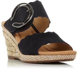 Gabor Kent Buckle Detail Wedge Sandals