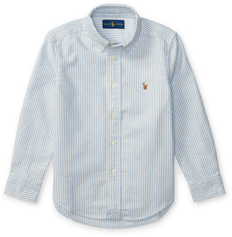 Ralph Lauren Kids Cotton Oxford Stripe Sport Shirt, Size 4-7