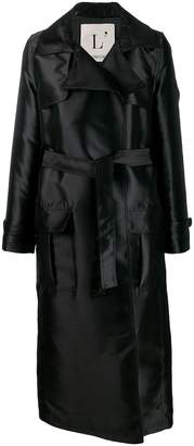 L'Autre Chose Long Belted Trench Coat