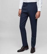 REISS Jansen T - Slim-fit Wool Trousers in Blue, Mens