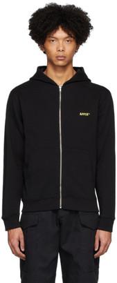 AFFIX Black Zip-Up Hoodie