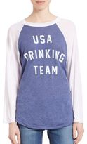 Wildfox Couture 4th Of July USA Drinking Team Raglan Tee