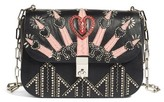 Valentino Love Blade Embroidered Calfskin Leather Shoulder Bag - Black