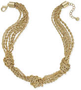Charter Club Gold-Tone Multi-Layer Knotted Necklace, Only at Macy's