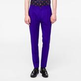 Paul Smith Men's Slim-Fit Indigo Wool Pleated Trousers