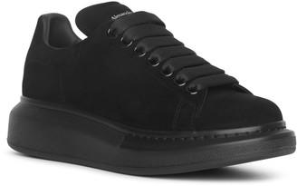 Alexander McQueen Black suede classic sneakers