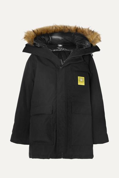 33d6d2afdfbef Down Parka With Faux Fur Trim - ShopStyle