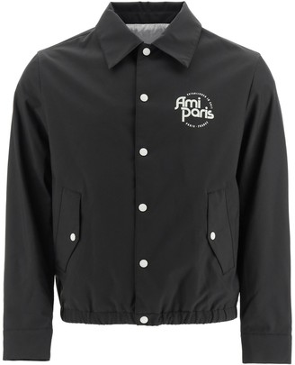 Ami Logo Printed Buttoned Jacket