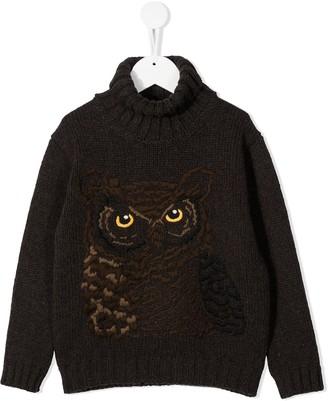 Dolce & Gabbana Kids Owl Roll-Neck Jumper
