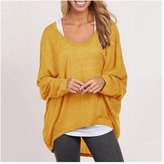 Cibeat Women Plus Size Long Sleeve Pullover Sweater Oversized Baggy Loose Jumper Tops Color: Size (Women's):S