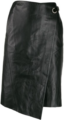 Karl Lagerfeld Paris Leather Wrap Skirt