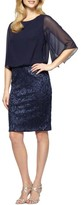 Alex Evenings Women's Sequin Blouson Dress