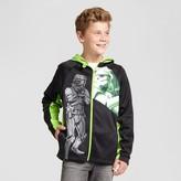Star Wars Boys' Storm Trooper Zip-Up Sweatshirt Black/Neon