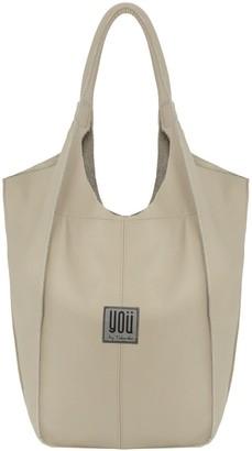 You By Tokarska Leather Handbag Malezia Beige