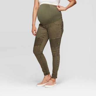 Ingrid & Isabel Isabel Maternity by Maternity Crossover Panel Utility Jeggings - Isabel Maternity by Olive