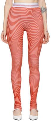 Marine Serre SSENSE Exclusive Pink Zebra Iconic Leggings