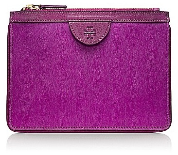 Tory Burch Priscilla Calf Hair Zip Pouch
