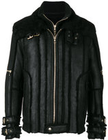 Balmain shearling lined aviator jacket