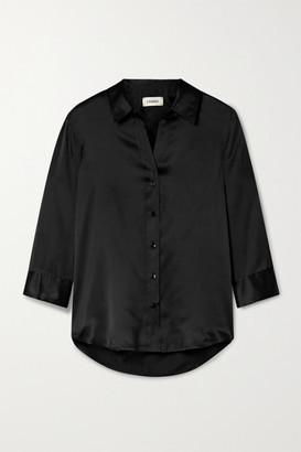 L'Agence Dani Silk-charmeuse Blouse - Black